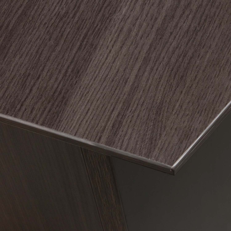 Catalina Laminate Straight Right Return L Shape Desk Gray