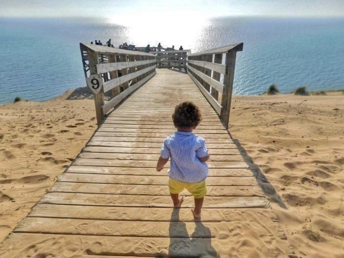 Stop #9 on pier-drive at Sleeping Bear Dunes