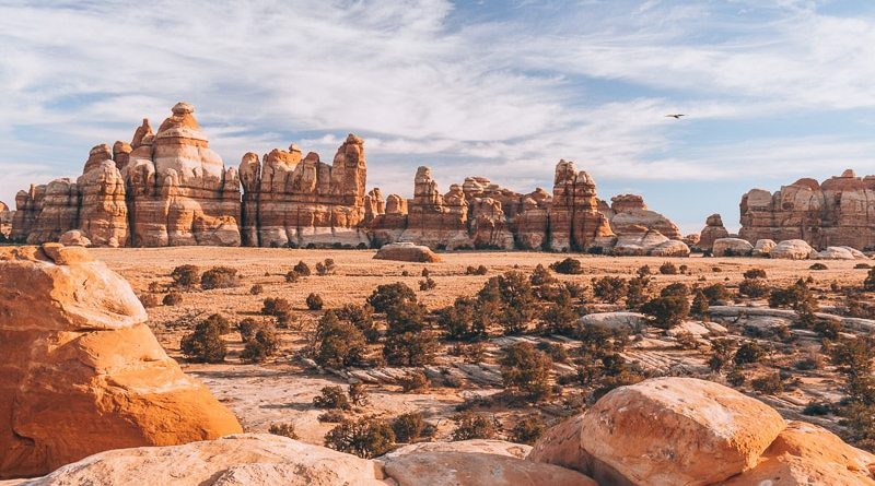 Hiking Chesler Park Loop Trail in Canyonlands National Park