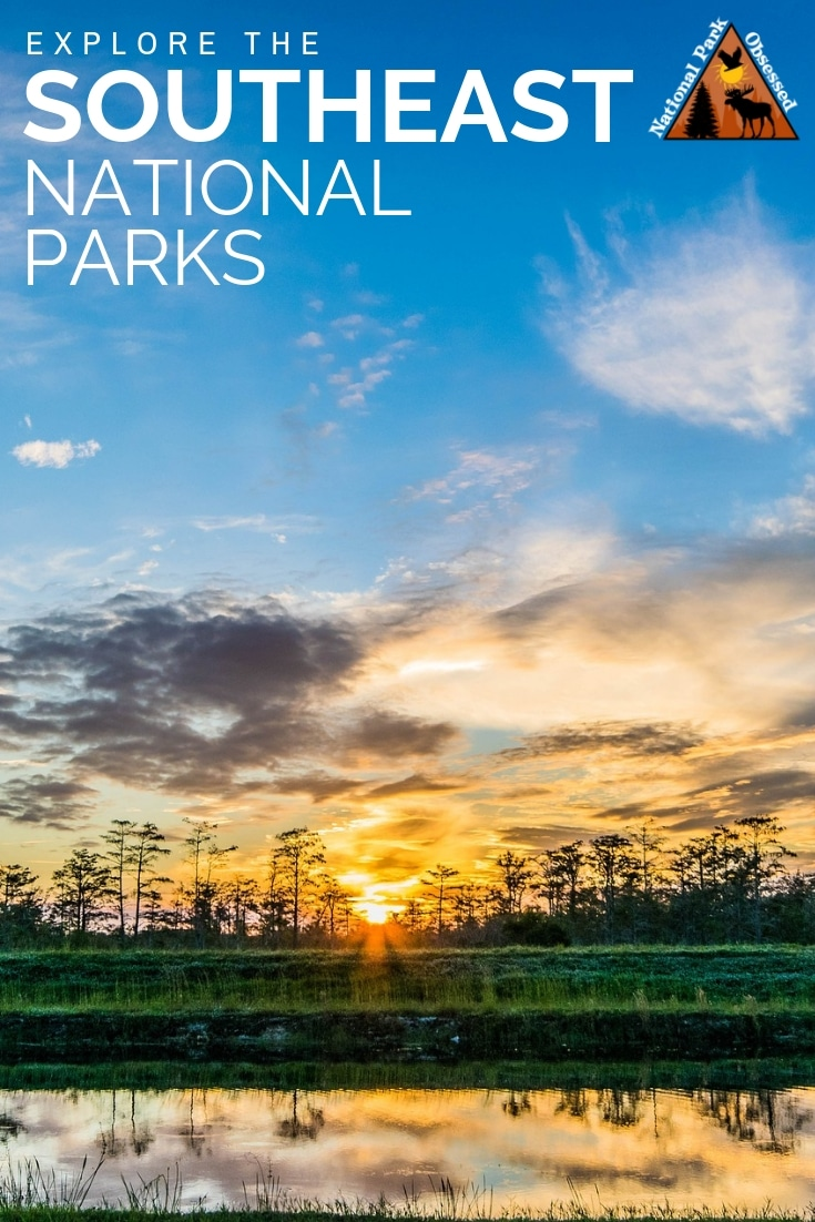 The Southeasten Region of the United States is home to 72 national park service sites.  Here is a complete list of the national parks of the southeast. #findyourpark #nationalparkgeek