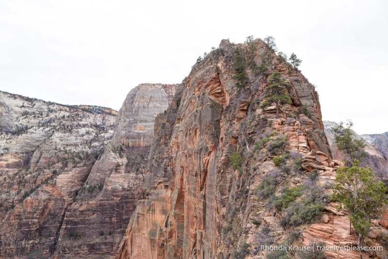 The trail up to Angel's Landing