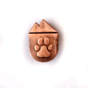 national park paws antique copper metal lapel pin