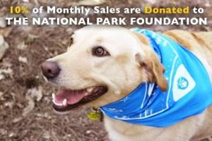 national park paws dog bandana shop donates to national park foundation