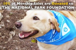 national park paws dog bandana shop donates to national park foundation