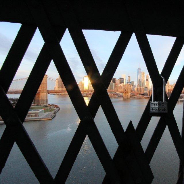 View of Jane's Carousel from Manhattan Bridge
