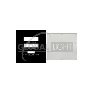 Gilbarco Advantage® Generic Wide Frame Main Display Overlay and Acrylic Plexiglass Panel