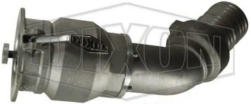 "Dixon® Vapor Recovery Coupler w/ 45° Hose Shank, 4"" x 4"" (Swivel)"