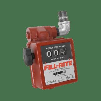 "Fill Rite 806C 3-Wheel 1"" Mechanical Gravity Liter Meter with Strainer"