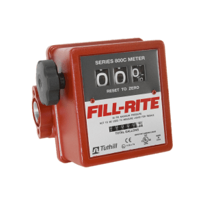 "Fill Rite 807C1 1"" 3-Wheel Mechanical Meter"