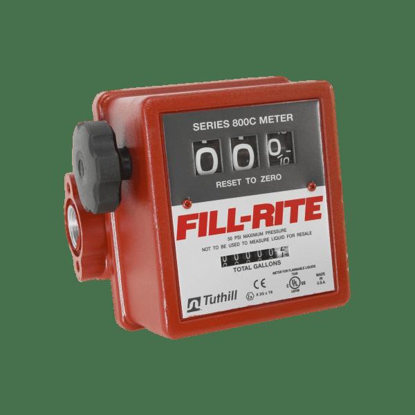 "Fill Rite 807C1 1"" 3-Wheel Mechanical Meter"