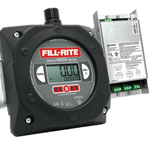"Fill-Rite 900CDP 1"" Digital Display Meter with Pulser Barrier"