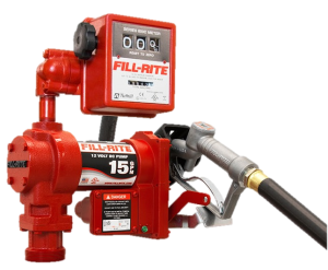 Fill Rite FR1211GL 12 Volt DC Pump with Hose, Manual Nozzle and Liter Meter