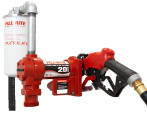 Fill Rite FR4210GBFQ 12 Volt DC High Flow Pump with Hose, Hi-Flo Automatic Nozzle and Filter