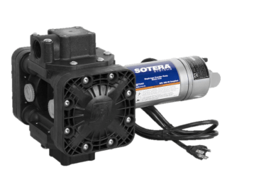 Fill Rite SS460BX674 115VAC Diaphragm Pump with 90° Flanged Ports