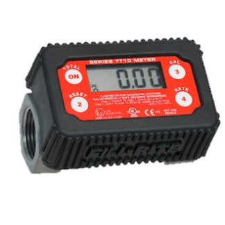 "Fill-Rite TT10ANC 1"" In-Line Digital Turbine Meter, Nickel Plated"