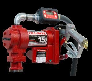 Fill Rite FR1219G 12 VDC Pump with In-line Digital Turbine Meter