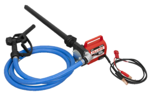 Fill Rite FR1616 12 VDC Portable Pump with Hose, Nozzle and Suction Pipe