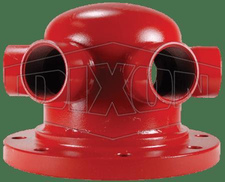"Dixon 150# Flanged 3"" x(2) 2.5"" FDC Pump Test Header"