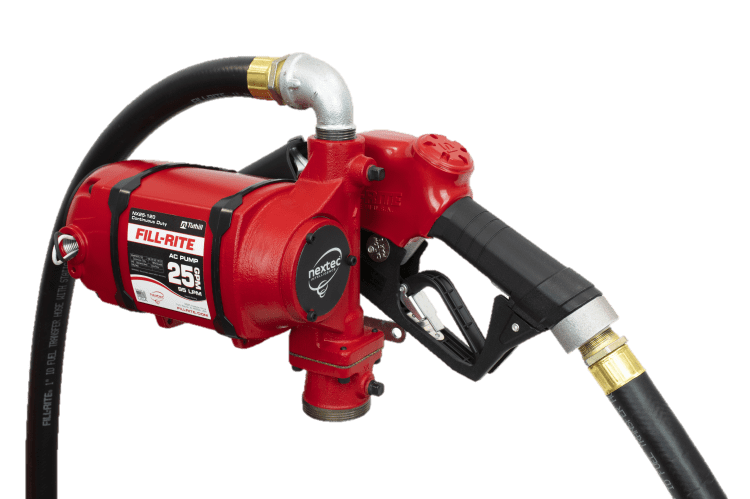 Fill Rite NX25-120NB-AA 120 VAC nextec Continuous Duty Pump with Hose and Automatic Nozzle
