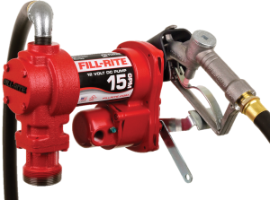 Fill Rite FR1210H 12 Volt DC Pump with Hose and Manual Nozzle