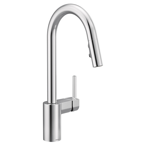 moen align one handle high arc pulldown kitchen faucet