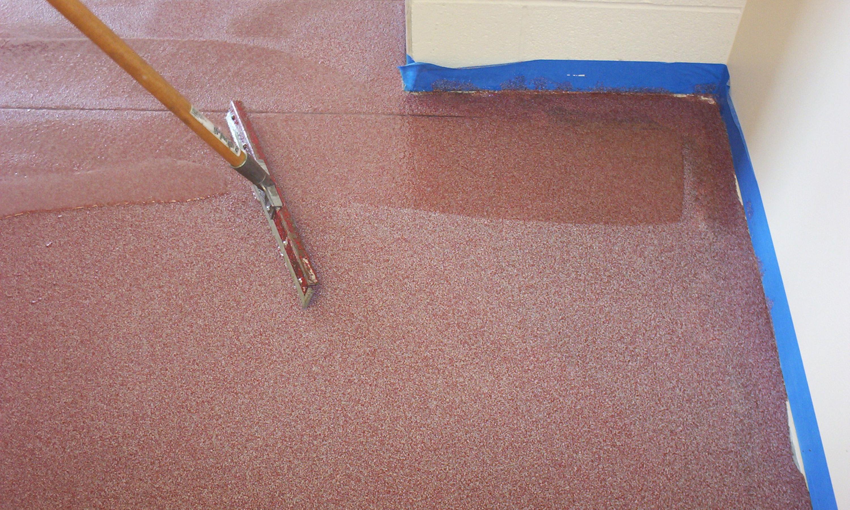 Decorative Quartz Floor Clear Epoxy Application