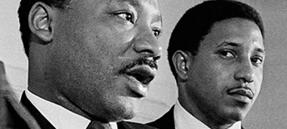 Rev. Dr. Bernard Lafayette, Jr (left) with mentor Rev. Dr. Martin Luther King, Jr (right)