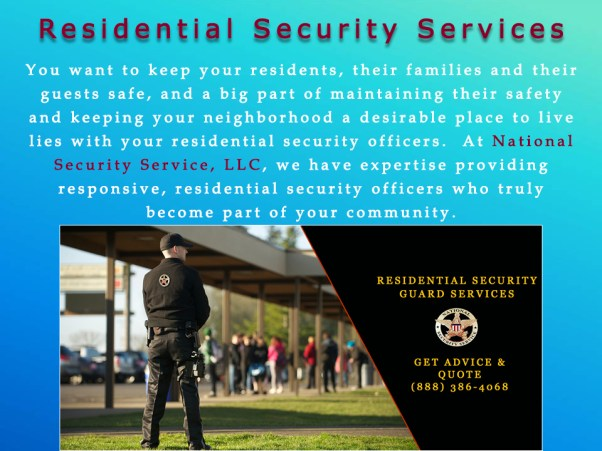 7 Residential Security Services