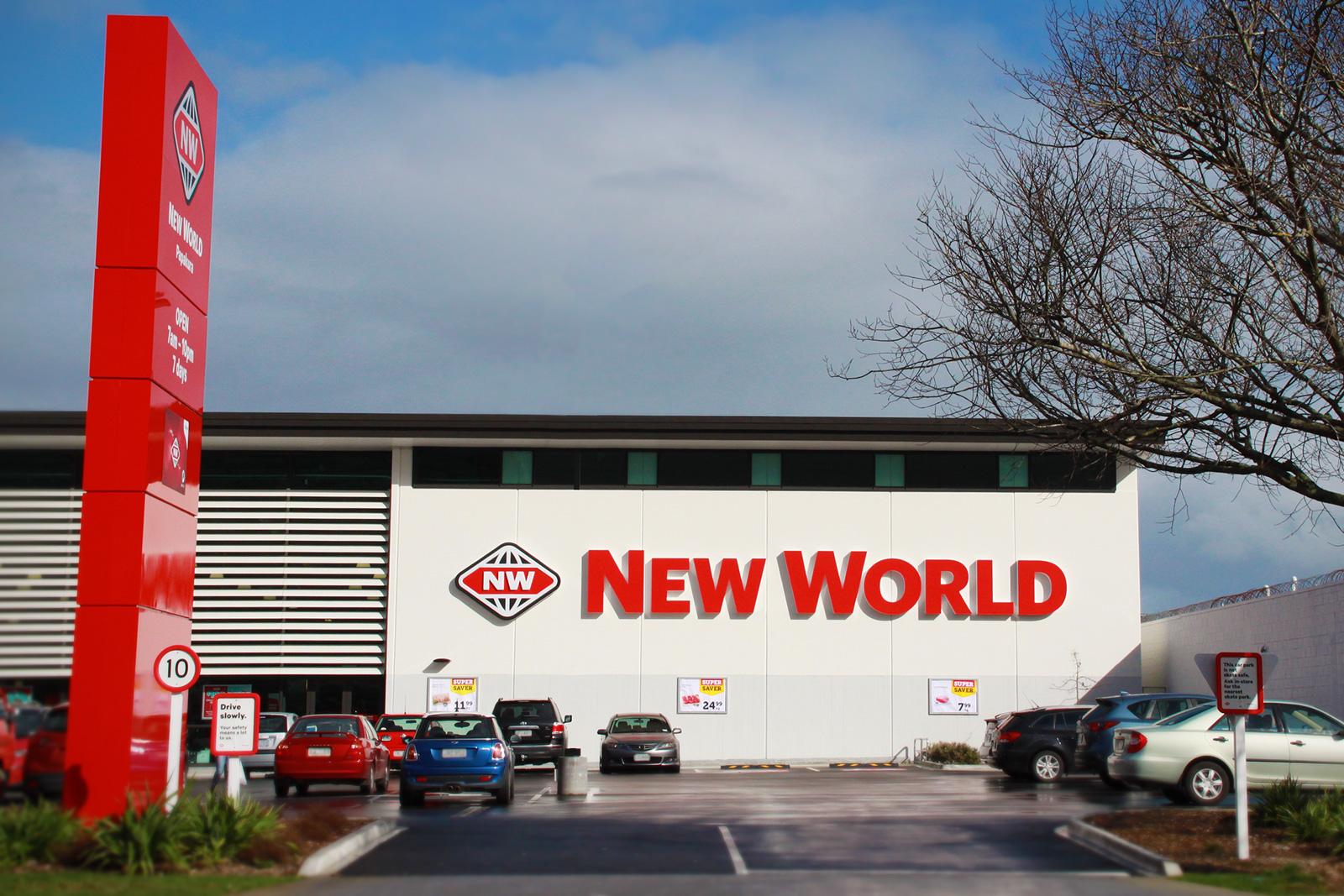 new world papakura 3d illuminated letters roadside pylon signage