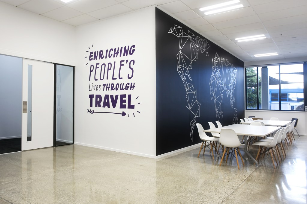 houseoftravel wall graphics vinyl application interior