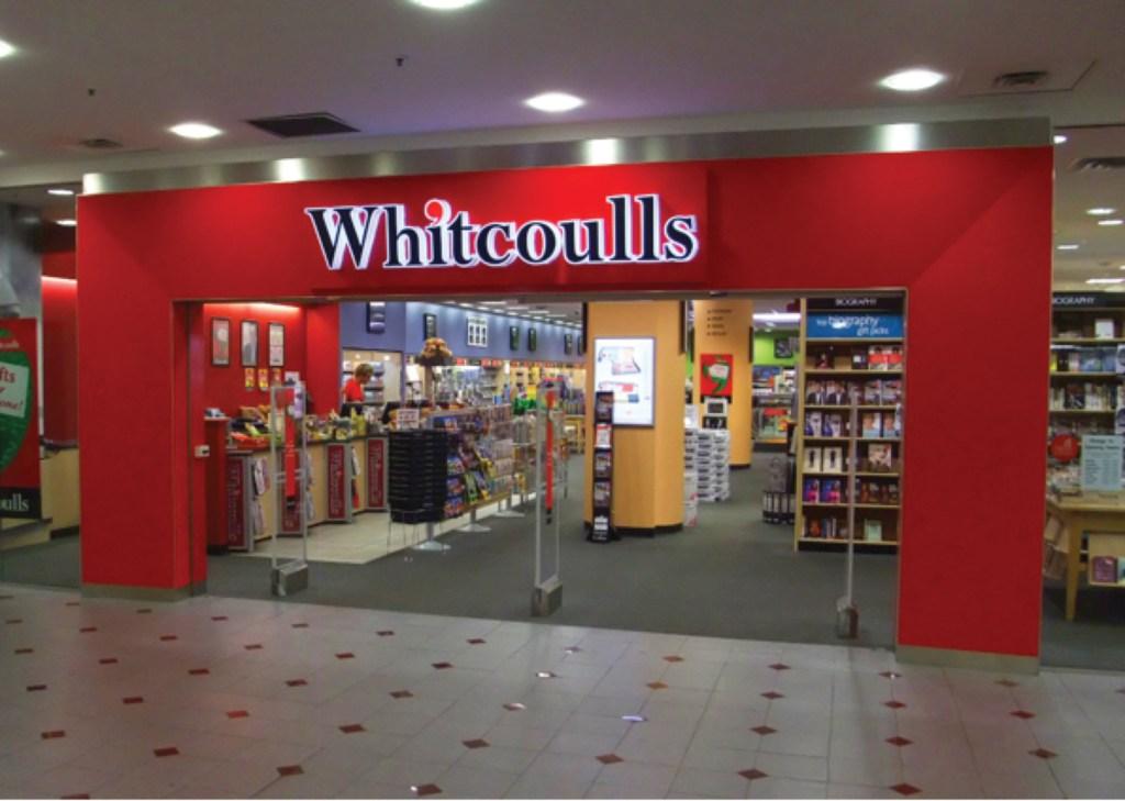 whitcoulls storefront bulkhead 3d letters led illuminated vinyl