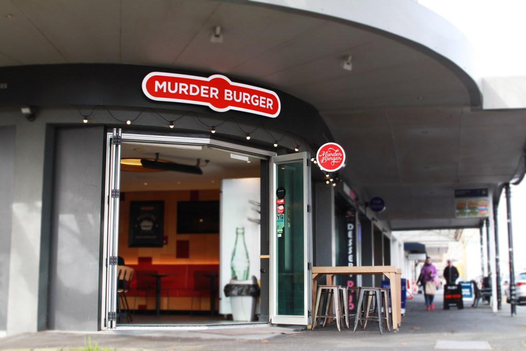 murder burger ponsonby 3d fabricated lightbox signage tavern led illuminated
