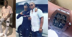 Davido's Boy Throws Shades At Wizkid Claiming Richard Millie Watch He Gifted Manager is 'Fake'