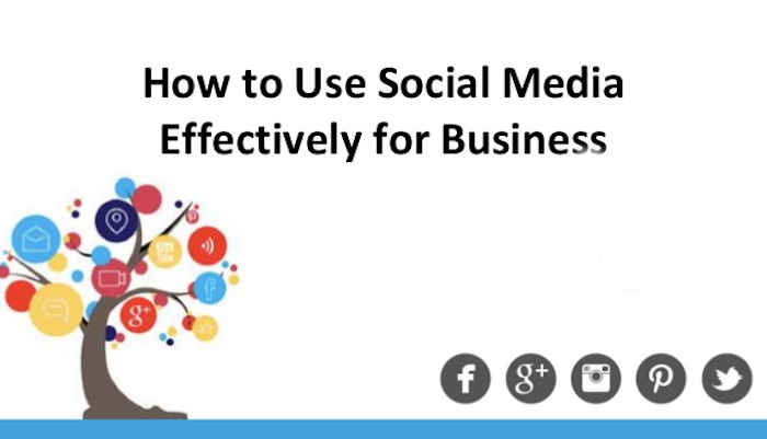 How To Use Social Media To Effectively Market Small Business