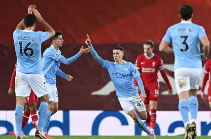 Manchester City thrash Liverpool 4-1 at Anfield