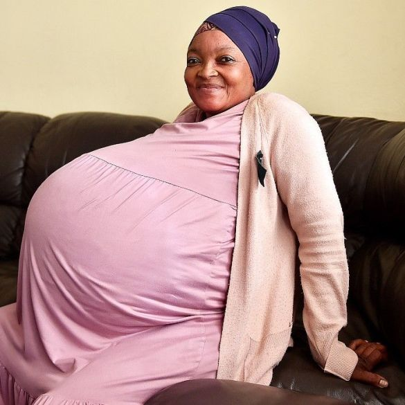 A woman from South Africa claims she has given birth to 10 babies
