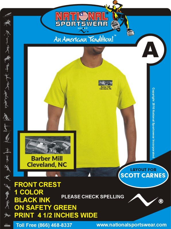 barber mill t-shirt