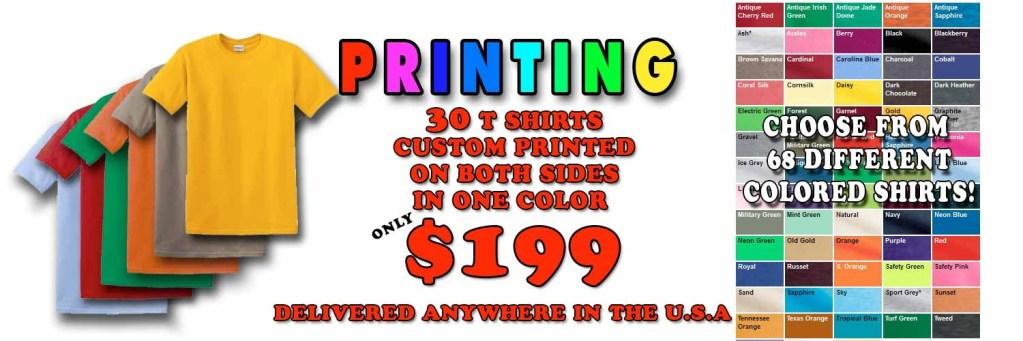 cheap t-shirt printing 1 199 for 30