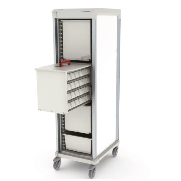 Apollo medications storage cart single