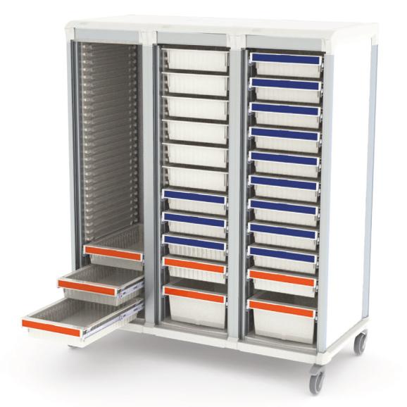 Apollo storage cart open