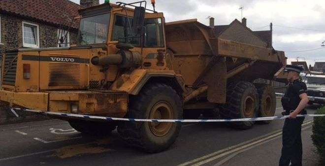Dumper truck chased by police across Norfolk and Suffolk