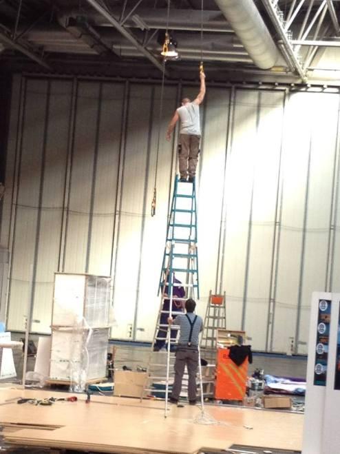 Risking it on high ladder