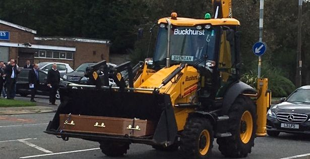 James Dad in Digger Brendan personalised number plate (Picture by James murphy)