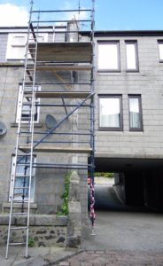 Ladder not tied on properly