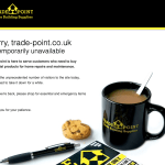 Trade point website down after surge in demand