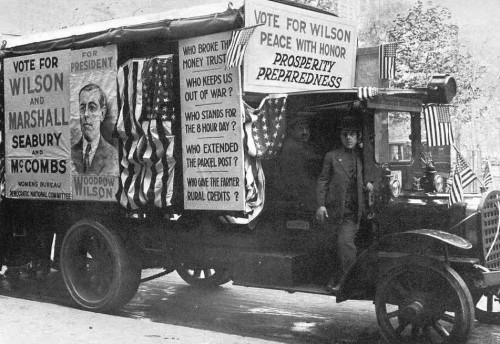 "WILSON'S campaign propaganda for the 1916 election emphasized his stance of non-intervention in the war then raging in Europe. Most of the press and the public were also against intervention. Then, after Wilson's reelection -- and the British-Zionist deal, concluded just a few days before the election -- the press began a ""surprisingly rapid"" shift toward an interventionist stance. Wilson followed, calling for a declaration of war against Germany just five months after his reelection. Even before that, however, he and Brandeis had been planning war, and it was their secret assurances that the United States would be brought into the war that led British leaders to reject Germany's peace offer of December 12, 1916. If that offer had been accepted, the lives of some three million White soldiers -- including 115,000 Americans -- Which were consumed in 1917 and 1918 would have been spared. Furthermore, the Second World War, which grew out of the unjust conditions imposed on Germany after the Allied victory, would have been avoided. And if Russia could have had peace in December 1916, she probably would have had time to stamp out the Bolshevik virus being spread among her soldiers and workers by the Jews, and Communism would have suffered a setback from which it might never have recovered. All of the grim and bloody consequences of Wilson's switch in foreign policy stem from the Zionist influence in the U.S. news media and politics, which had been built up over the preceding two decades."