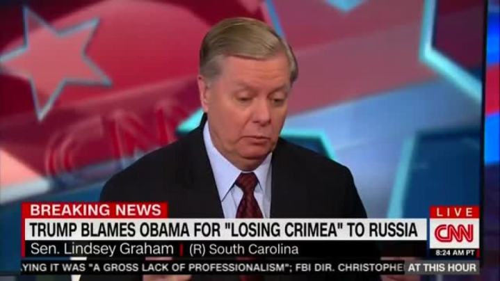 "Senator Lindsey Graham to CNN ""So if you don't like me working with President Trump to make the World a better place, I don't give a Sh*t"" (VIDEO)"