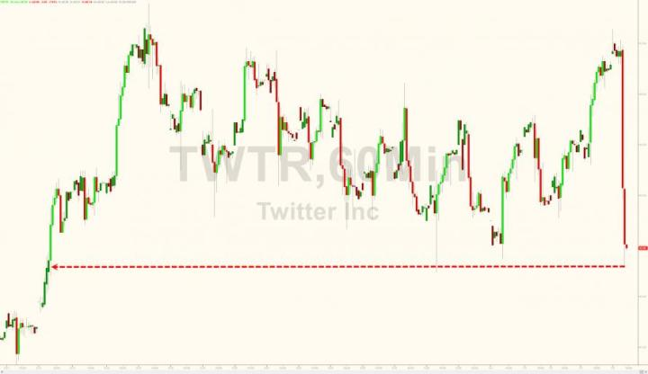 Twitter Tumbles 8% After Culling 20% If Its 'Users'