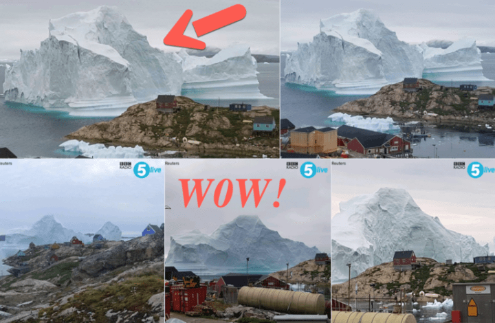 Massive Iceberg Threatens Greenland Village With Tsunami