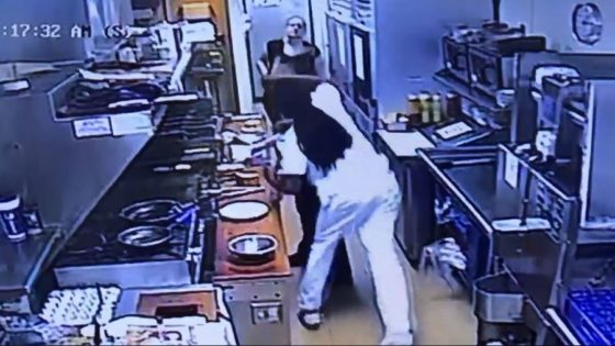 [WATCH] Kitchen Worker PULLS GUN On Man Who Sucker Punched Colleague